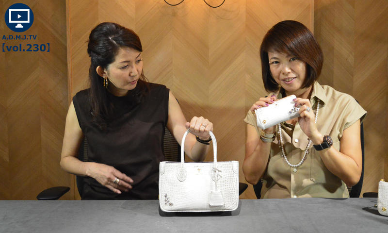 A.D.M.J.TV【vol.230】CROCOEMBOSSING SWAROVSKI・CRYSTALS MINI TOTEBAG