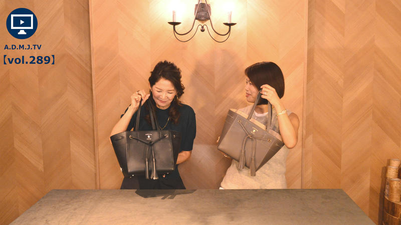 A.D.M.J.TV【vol.289】19SA CALFLEATHER TASSEL CONCLUSION TOTEBAG 23cm